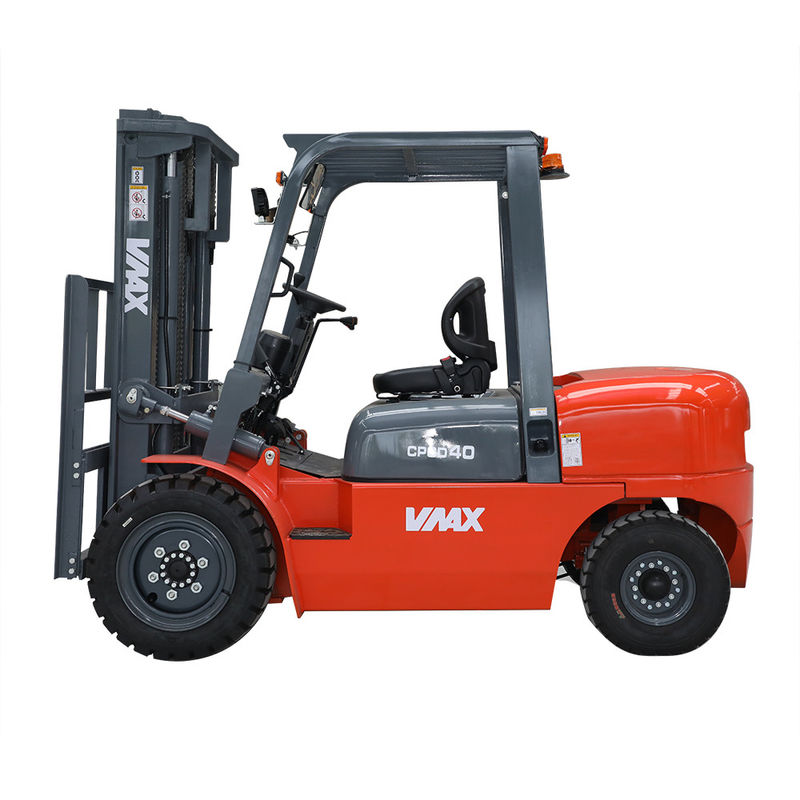 VMAX 4 Tons Four Wheel Drive Forklift 1220mm Fork Length CE Certification